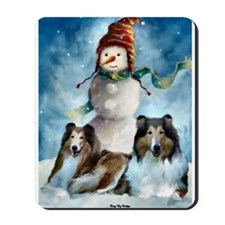 Rough Collie Christmas Gifts Mousepad