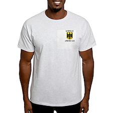 GERMAN AMERICAN Ash Grey T-Shirt