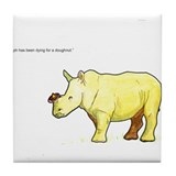 Ralph the Rhino Tile Coaster