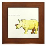 Ralph the Rhino Framed Tile