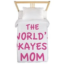 The World's Okayest Mom Twin Duvet
