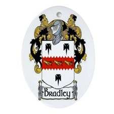 Bradley Coat of Arms Ornament (Oval)
