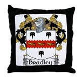 Bradley Coat of Arms Throw Pillow