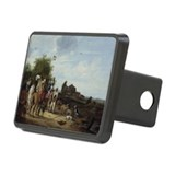 Falconry (oil on panel) - Rectangular Hitch Cover