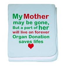 Personalize Me Organ Donation Saves Life baby blan