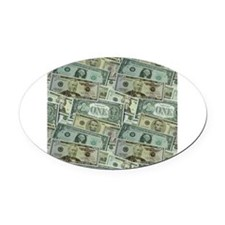 Easy Money Oval Car Magnet