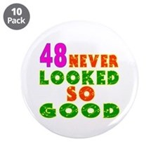 "48 Birthday Designs 3.5"" Button (10 pack)"