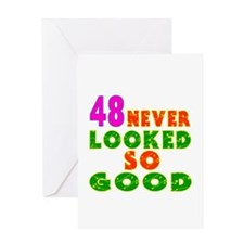 48 Birthday Designs Greeting Card