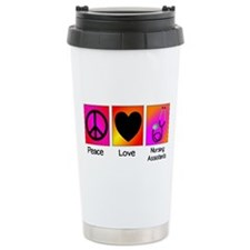 peace love nursing assistants Travel Mug