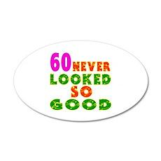 60 Birthday Designs 20x12 Oval Wall Decal