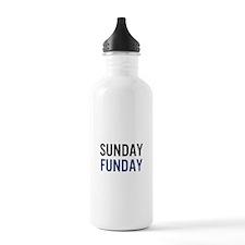 Sunday Funday (black/blue) Water Bottle