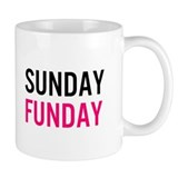 Sunday Funday (black / pink) Small Mugs