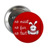 "No meat, No fur, No test 2.25"" Button (10 pack)"