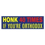Orthodox Bumper Bumper Sticker