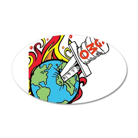 GMO Killing the World 20x12 Oval Wall Decal