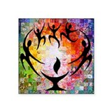 "Flaming chalice Square Sticker 3"" x 3"""