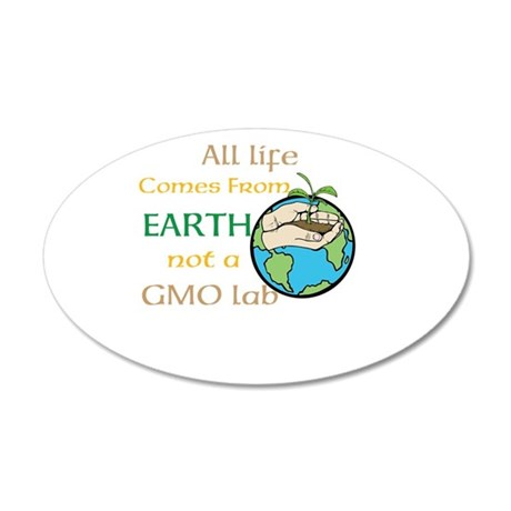 All Life Comes From Earth. Not a GMO Lab Wall Deca
