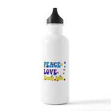 peace love honeybees 2 Water Bottle