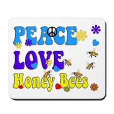 peace love honeybees 2 Mousepad