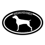 """Weimaraner"" Black Oval Decal"
