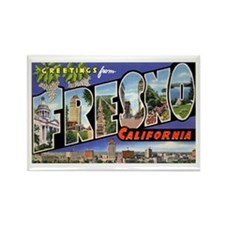 Fresno California Greetings Rectangle Magnet