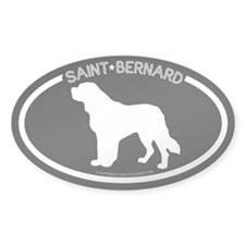 """Saint Bernard"" Black Oval Decal"