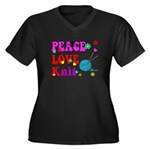 peace love knit Plus Size T-Shirt