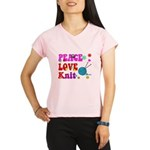 peace love knit Peformance Dry T-Shirt
