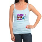 peace love knit Tank Top
