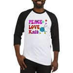 peace love knit Baseball Jersey