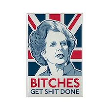 Margaret Thatcher Bitches Rectangle Magnet
