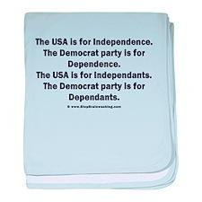 Independant or Dependant baby blanket