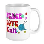 peace love knit Mug