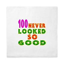 100 Birthday Designs Queen Duvet