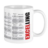 Excelling keyboard shortcuts Small Mugs