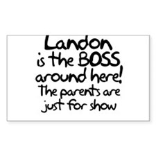 Landon is the Boss Decal