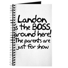 Landon is the Boss Journal