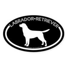 """Labrador"" Black Oval Decal"