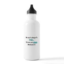 psych nurse fix crazy 2 Water Bottle