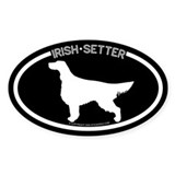 """Irish Setter"" Black Oval Decal"