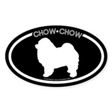 """Chow Chow"" Black Oval Decal"