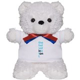 The Helvetica Icon solid Teddy Bear