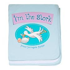 I'm the Stork baby blanket