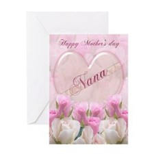 Nana Mother's Day Card With Pink Roses