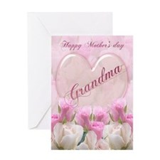 Grandma Mother's Day Card With Pink Roses
