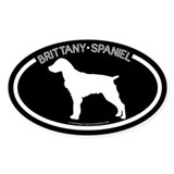 """Brittany Spaniel"" Black Oval Decal"