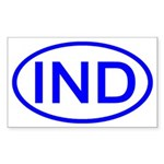 India - IND Oval Rectangle Sticker