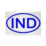 India - IND Oval Rectangle Magnet (10 pack)