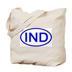 India - IND Oval Tote Bag