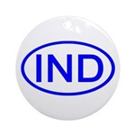 India - IND Oval Ornament (Round)